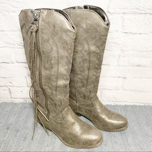 NEW Womens Rampage Telula pewter western boot
